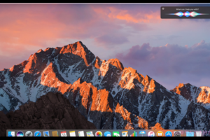 macOS Sierraでも、音声で Siriが起動可能に....