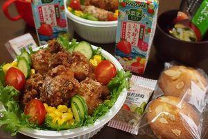 1月14日 唐揚げ丼弁当とマドレーヌ