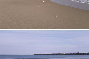 今日の日本海、穏やかで広~い (((o(*゚▽゚*)o))) ♡♡
