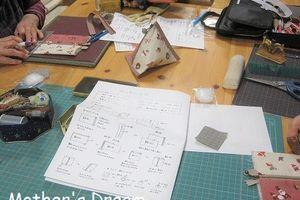 簡単でかわいい布小物教室 「三角ポーチ」