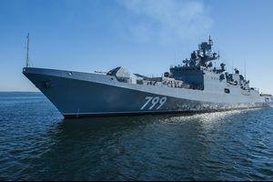 ロシア海軍黒海艦隊の為のプロジェクト11356R警備艦3番艦アドミラル・マカロフはバルト海で艦対空ミサイルの発射試験を行なった