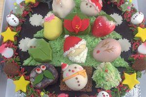 和菓子のクリスマスケーキ・・・御菓子司あじ福