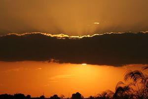 夕日と太陽 その2。 Sunset, the sun