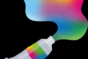 パレットの絵の具を混ぜて、潜在意識、阿頼耶識のキャンバスに描こう