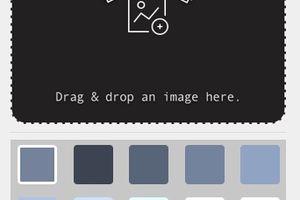 ドラッグ&ドロップされた画像からドミナントカラーを抽出『Vaunt』