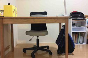 無印無垢デスク&ニトリのチェアで、小6長男の学習机完成!