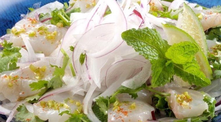 【低糖質お魚レシピ】すずきと玉ねぎのカルパッチョの作り方・レシピ - アジアンテイストで♪