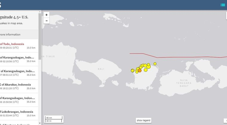 【地震活発】インドネシアでM5.9の地震発生、M4~5クラスの地震も続く…ロンボク島での犠牲者は300人超