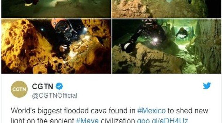 【ユカタン半島】メキシコで地球最大規模の「水中洞窟」を発見…古代マヤ文明の解明に