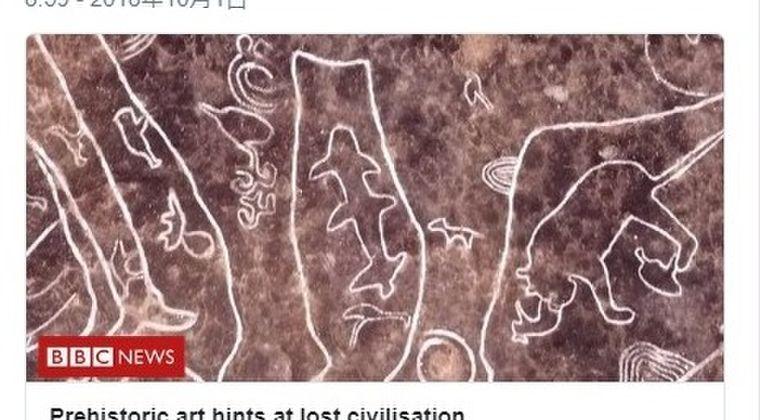 【インド】失われた文明の痕跡を発見か?岩に刻まれた「サメやクジラのような絵」