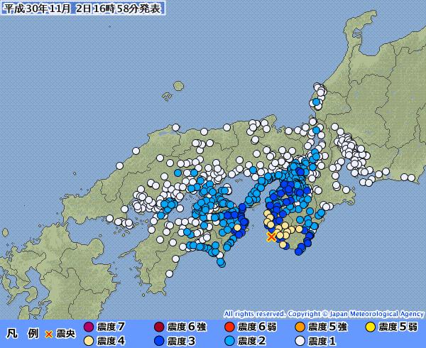 【南海トラフ】紀伊水道震源で最大震度4の地震が関西地方であったけど、これって...