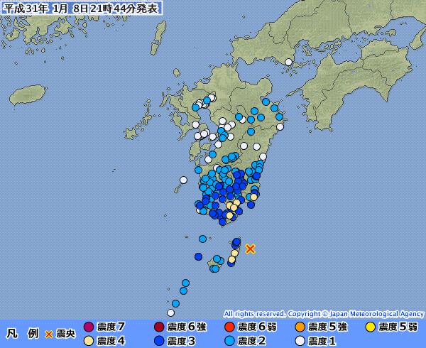 鹿児島・宮崎で最大震度4の地震発生 「M6.4」 震源地は種子島近海 深さ約30km