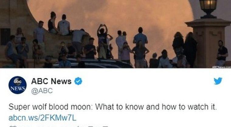 【満月】1月21日は「スーパーブラッドムーン」…アメリカやヨーロッパでは月が真っ赤になる皆既月食として話題に