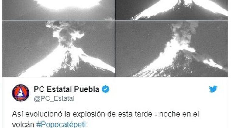 【メキシコ】ポポカテペトル火山で噴火が相次ぐ…火山性地震も発生