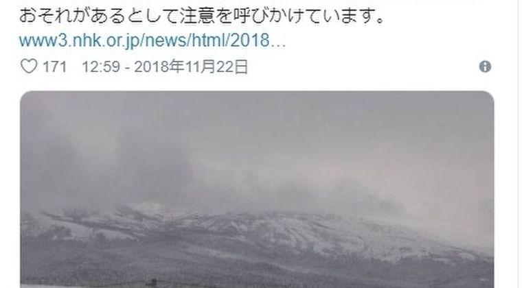 【北海道】十勝岳で「火山性微動」を観測…気象台「突発的な噴気や熱水に注意」