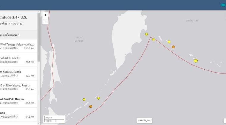 【千島列島】クリル諸島で1日に5回も地震が発生