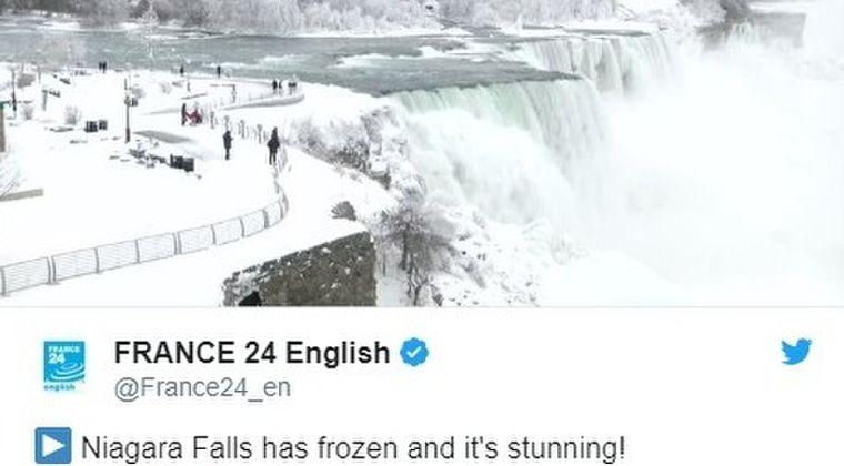 【極寒】アメリカ北東部が記録的な寒波に…「ナイアガラの滝」もあまりの寒さに凍結