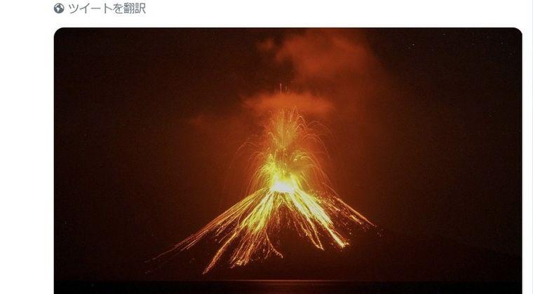【山体崩壊】インドネシア・クラカタウ山の標高が噴火により3分の1に…インドネシア政府「今後、さらに大規模噴火の危険性がある」
