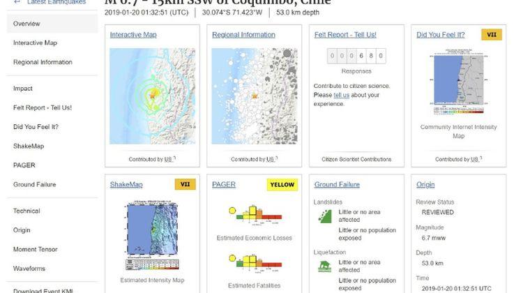 【USGS】チリで「M6.7」の地震発生