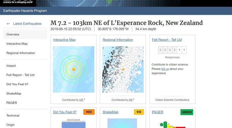 【連動法則】ニュージーランド付近で「M7.2」の地震発生