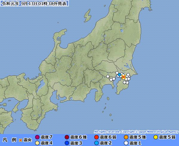 千葉県で深夜に「震度2」の地震発生…停電と断水が続いてるのに追い打ちをかけるとか「神」なんてやっぱいないんだな...