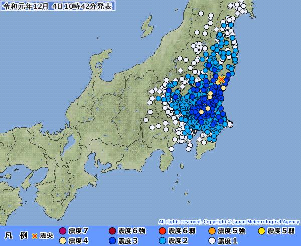 関東地方で最大震度4と2の地震またも発生!連日地震で怖すぎる…やっぱ首都直下地震間近なのか?