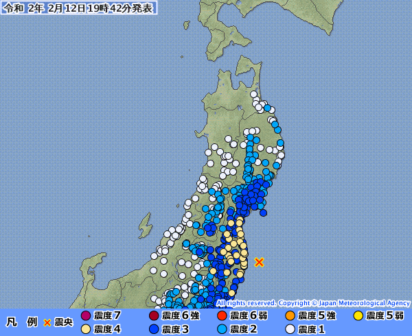 【ほぼ同時】北海道・東北・関東地方の広範囲で最大震度4の地震発生 M5.5 M4.4 震源地は福島県沖と胆振地方中東部