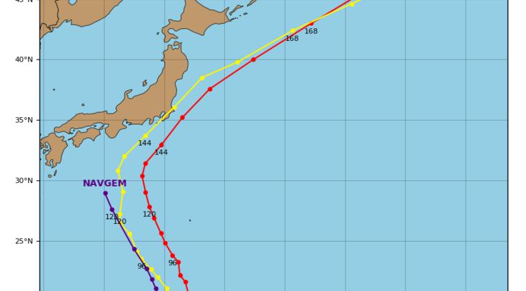 台風19号「ハギビス」発生!915hPaとなり今年最強になる予想…世界の進路モデルでは関東方面に直撃か