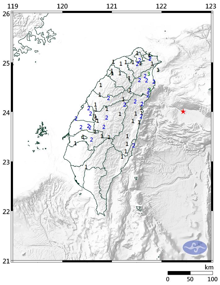台湾で「M5.4」の地震発生!広範囲が揺れを観測…最大震度は3