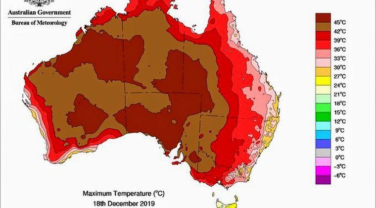 【オーストラリア】最高気温が「49.9℃」にまで上昇…全土では平均気温が「41.9℃」観測史上最も暑い日を更新