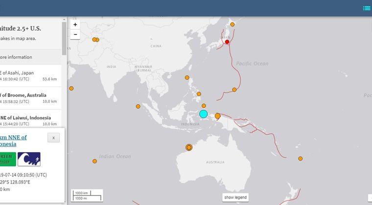 【次は日本?】14日インドネシア東部で「M7.3」、オーストラリア付近でも「M6.9」の地震が発生