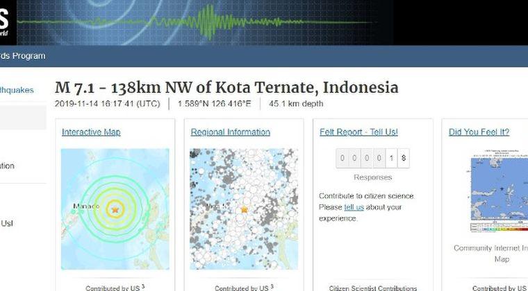 インドネシアで「M7.1」の地震が発生