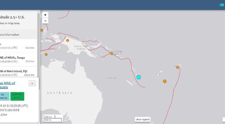 【法則】南太平洋バヌアツで「M6.4」の地震が発生