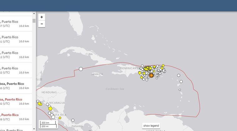 【カリブ海】プエルトリコで「M6.4」が1回「M5.6」の地震が2回発生…先月から周辺では小規模地震が異常なほど多発中