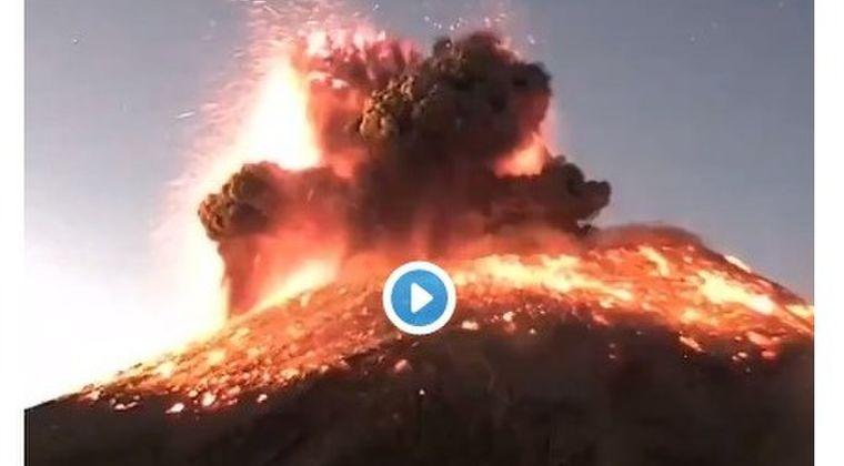 メキシコにある「ポポカテペトル火山」で激しい噴火!噴煙3000メートルに達する