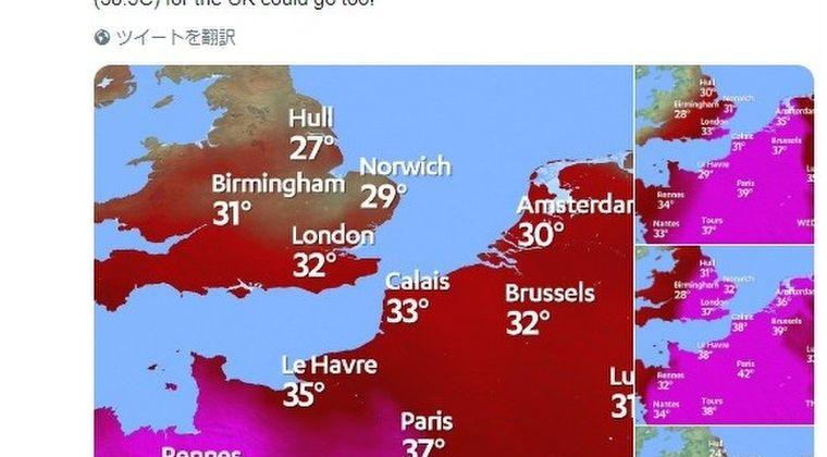 【熱波再来】気温「40℃」が当たり前になってしまう…フランス・パリで今週にも史上最高気温を更新する可能性