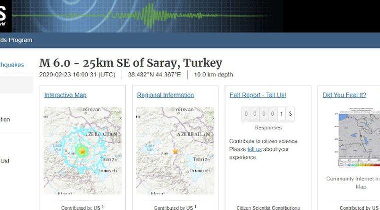 イラン・トルコ国境付近で地震が相次ぐ「M6.0」「M5.7」…海外でM5.0以上の地震が増加