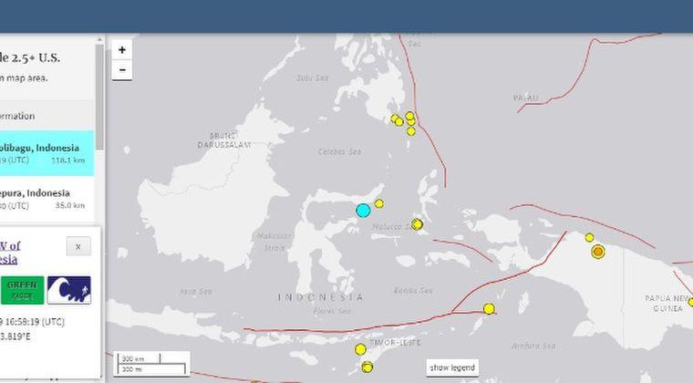 インドネシアのパプア地方で「M6.0」の地震発生