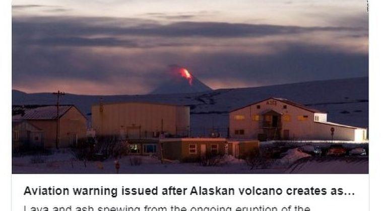 【アラスカ】アリューシャン列島のシシャルディン火山が大噴火!噴煙9000メートルを上げる