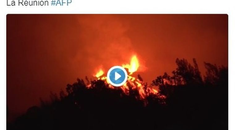 インド洋にあるフランス領「フルネーズ火山」が今年5回目の噴火