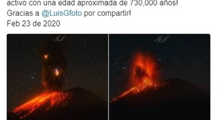 【動画】メキシコのポポカテペトル山が噴火…激しく噴煙を上げる