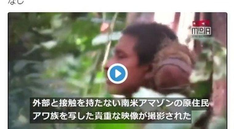 【アワ族】南米アマゾンで「謎の原住民」を激撮!外部との接触なし正体不明の部族