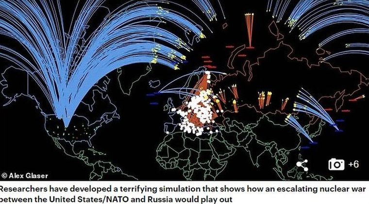 【最終戦争】アメリカとロシアが戦争をしたら世界で「45分以内に8530万人」の犠牲者が出ることが判明…これが世界の終焉だ!