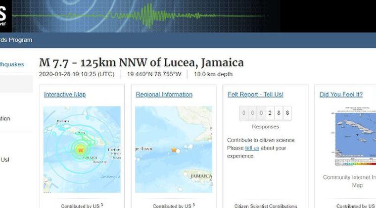 【カリブ海】ジャマイカ近海で「M7.7」の大地震が発生…津波の危険性あり