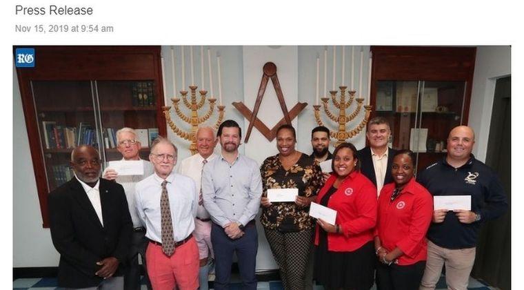 【慈善活動】秘密結社フリーメイソンが5つの団体にそれぞれ2500ドルを寄付