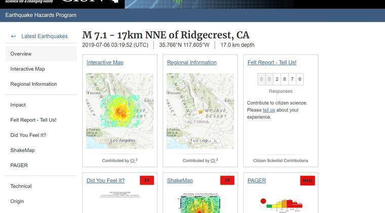 【アメリカ】カリフォルニアで「M7.1」の大地震が発生…ここ20年で最大規模の地震