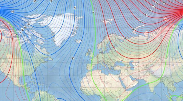 【ポールシフト】コンパスのN極の位置が190年で「2250km」も移動