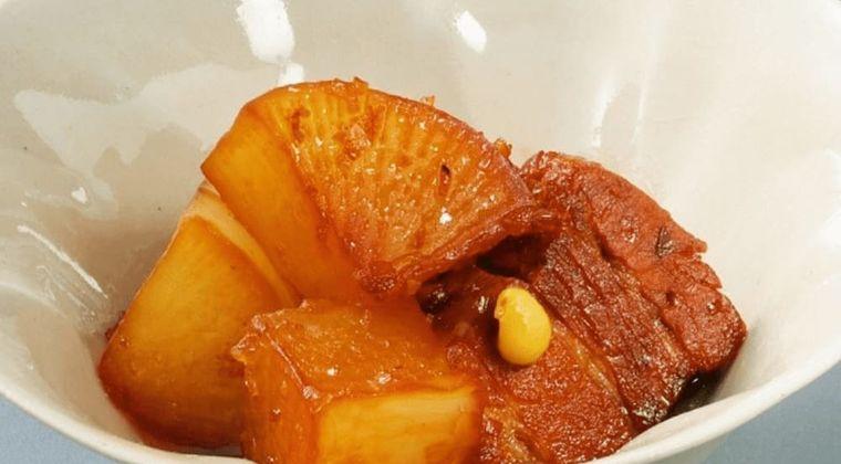 【病気封じ】京都の大根焚き「大根と豚肉のべっ甲煮」作り方・レシピ