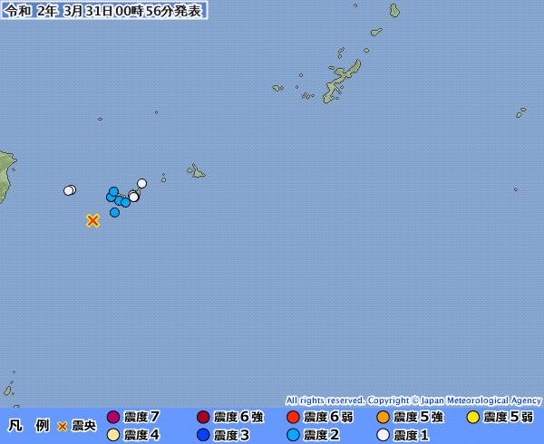 【群発地震】沖縄・石垣島近海でM4~5クラスの地震が相次ぐ
