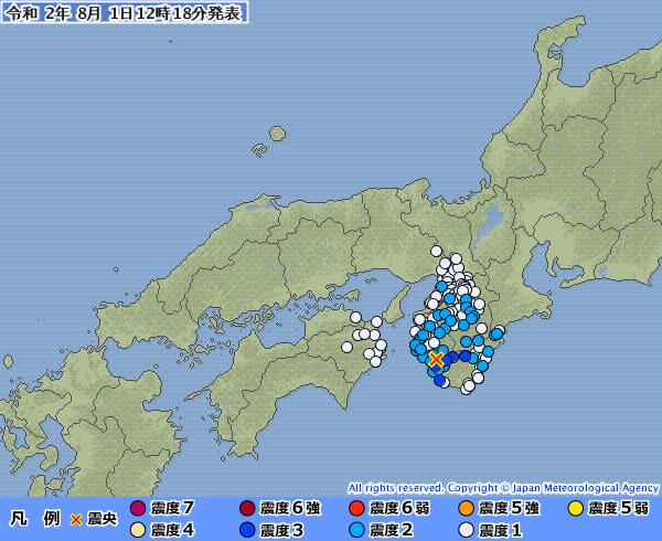 和歌山県で最大震度3の地震発生 M4.2 震源地は和歌山県南部 深さ約50km
